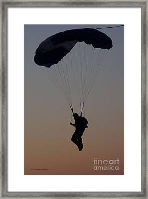 Perfect Sunset Landing Framed Print