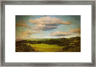 Perfect Valley Framed Print by Brett Pfister