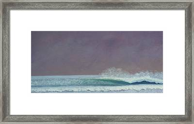 Perfect Wave Framed Print by Kent Pace
