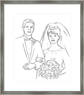 Framed Print featuring the drawing Perfect Wedding by Olimpia - Hinamatsuri Barbu