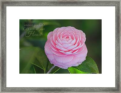 Perfection With Message Framed Print