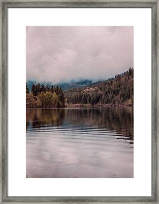 Perfectly Cloudy Lake Framed Print by Omaste Witkowski