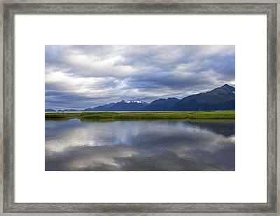 Perfectly Cloudy Framed Print by Saya Studios