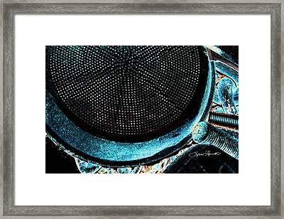 Perforated I Framed Print