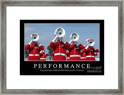 Performance Inspirational Quote Framed Print by Stocktrek Images