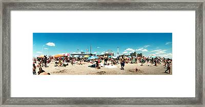 Performers At The Coney Island Mermaid Framed Print
