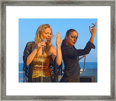 Performing By The Sea Framed Print by Digby Merry