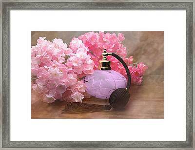 Perfume And Posies Still Life Framed Print by Tom Mc Nemar