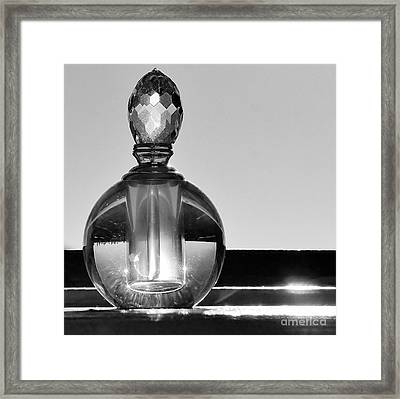 Framed Print featuring the photograph Perfume Bottle Inversion by Lilliana Mendez