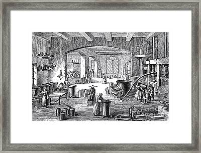 Perfume Factory, 19th Century Framed Print by Science Source