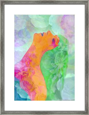 Framed Print featuring the digital art Perfume Of Love by Martina  Rathgens
