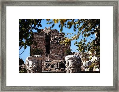 Pergamum - Premier Ancient Site In Turkey Framed Print by Jacqueline M Lewis
