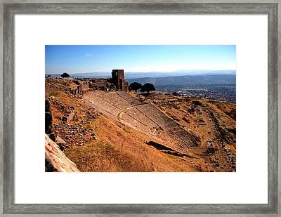 Pergamum - Theatre Framed Print by Jacqueline M Lewis