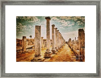 Perge's Road Framed Print by Emily Kay