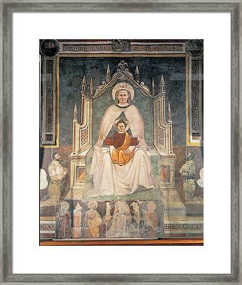 Perhaps By Master Of Feltre, Madonna Framed Print by Everett