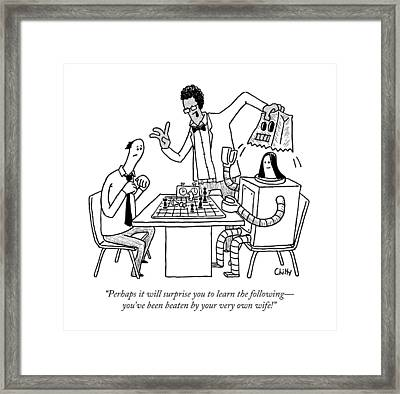 Perhaps It Will Surprise You To Learn Framed Print by Tom Chitty
