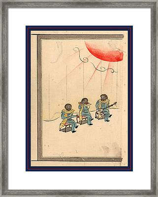 Peri Raiko, Commodore Perrys Delegation Framed Print by Japanese School