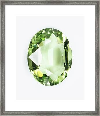 Peridot Gemstone Framed Print by Dorling Kindersley/uig