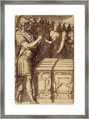 Perino Del Vaga Italian, 1501 - 1547, Alexander Framed Print