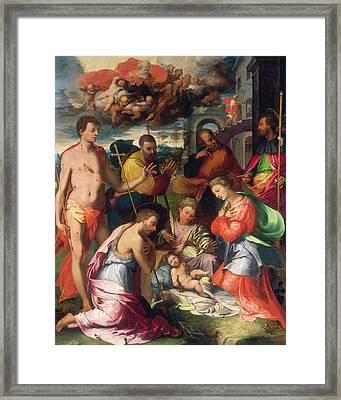 Perino Del Vaga, The Nativity, Italian, 1501-1547 Framed Print by Litz Collection