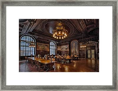 Periodicals Room New York Public Library Framed Print by Susan Candelario