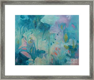 Framed Print featuring the painting Peripheral Vision 9 by Elis Cooke