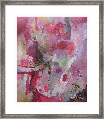 Framed Print featuring the painting Peripheral Vision I by Elis Cooke