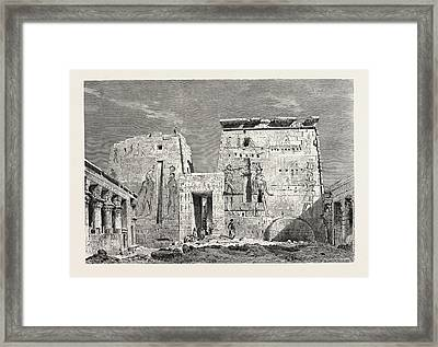 Peristyle In The Temple Of Isis On The Islan Of Philae Framed Print