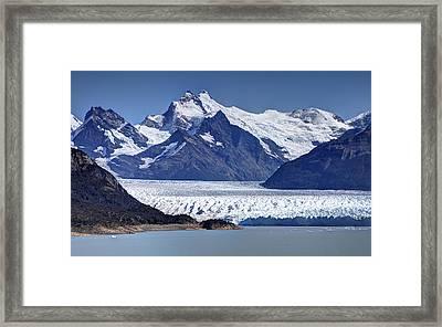 Perito Moreno Glacier - Snow Top Mountains Framed Print