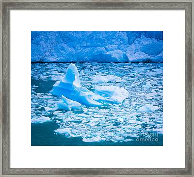 Perito Moreno Iceberg Framed Print by Inge Johnsson