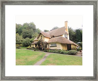 Periwinkle Cottage In Selworthy Framed Print