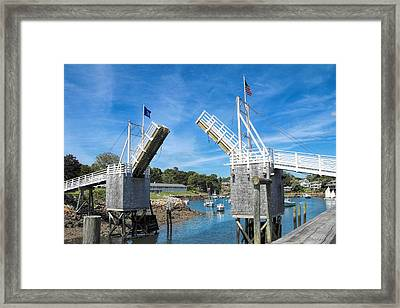 Perkins Cove Drawbridge Framed Print