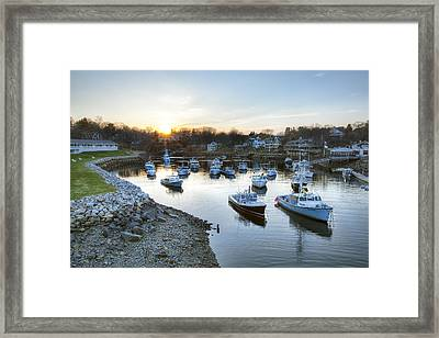 Perkins Cove Framed Print by Eric Gendron
