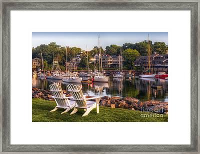 Perkins Cove Harbor Framed Print