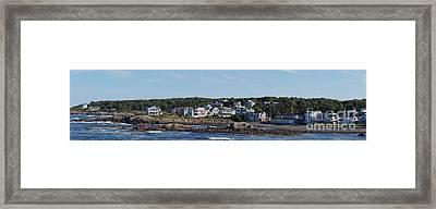 Perkins Cove In Ogunquit Maine   Framed Print by Zori Minkova