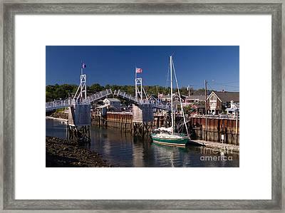 Perkins Cove Ogunquit Maine Framed Print