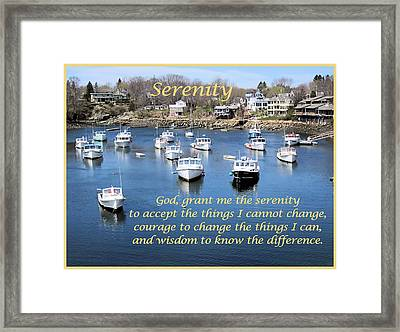 Perkins Cove Serenity Framed Print