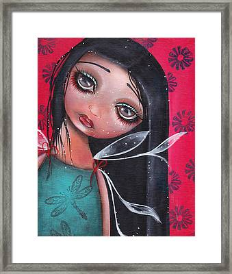 Perla Framed Print by  Abril Andrade Griffith