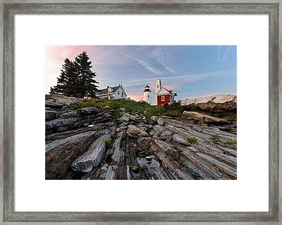 Permaquid At Twilight Framed Print by Daniel Behm
