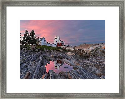 Permaquid Lighthouse Framed Print by Daniel Behm