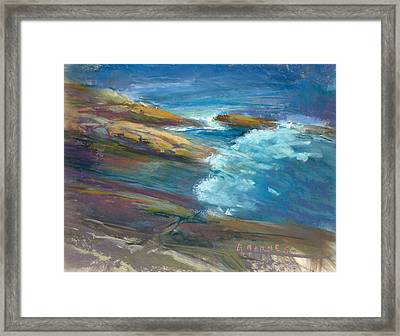 Pemaquid Rocks Framed Print by Greg Barnes