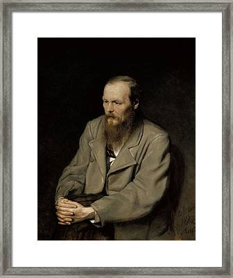 Perov, Vasily 1833-1882. Portrait Framed Print
