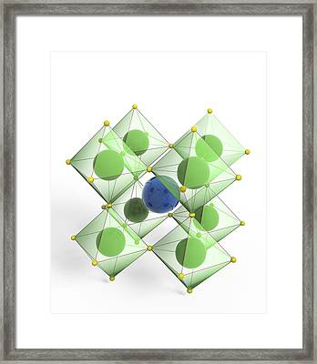 Perovskite Mineral, Molecular Model Framed Print by Science Photo Library