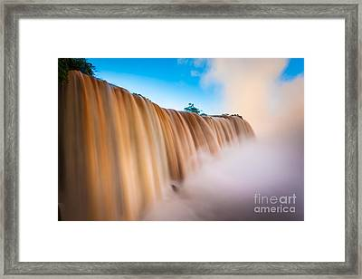 Perpetual Flow Framed Print by Inge Johnsson