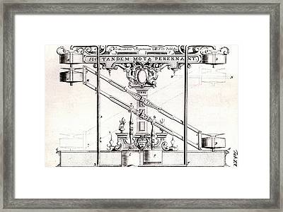 Perpetual Motion Machine Framed Print by Universal History Archive/uig