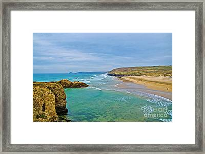 Perranporth Beach Framed Print
