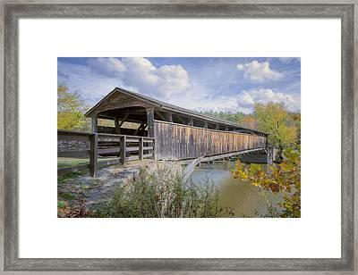 Perrine's Covered Bridge Framed Print