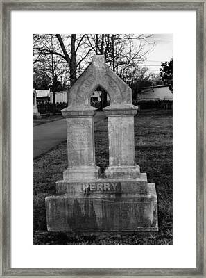 Perry Family Grave Marker Framed Print