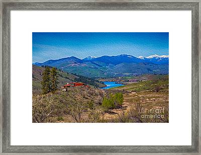 Perrygin Lake In The Methow Valley Landscape Art Framed Print
