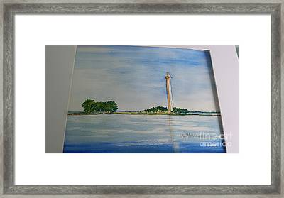 Perry's Monument Framed Print